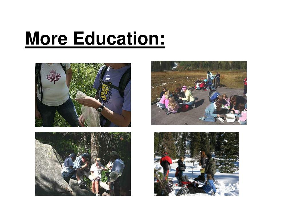 More Education: