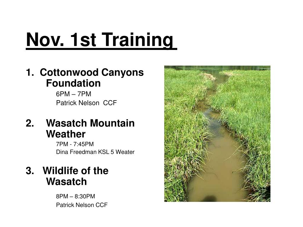 Nov. 1st Training