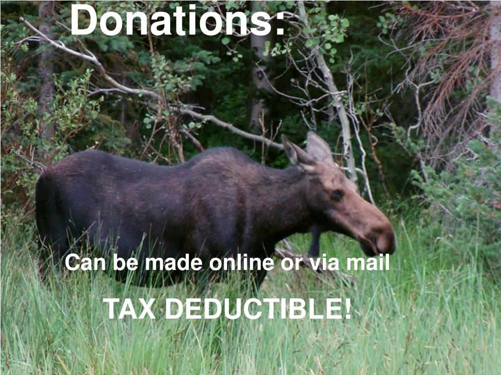 Donations: