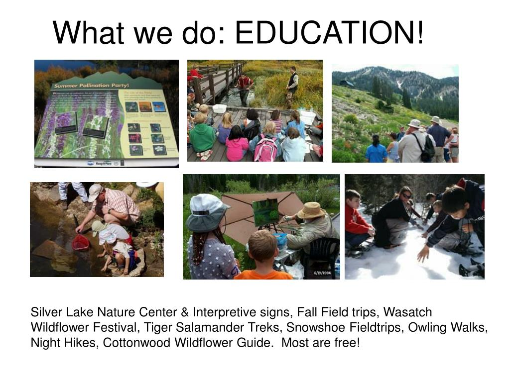 What we do: EDUCATION!