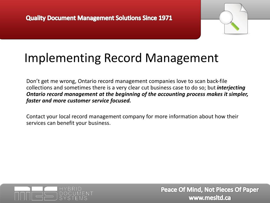 Implementing Record Management