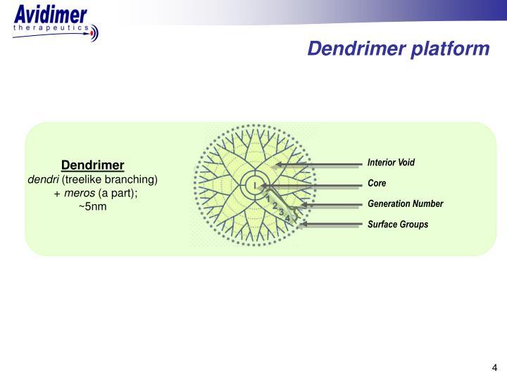 Dendrimer platform