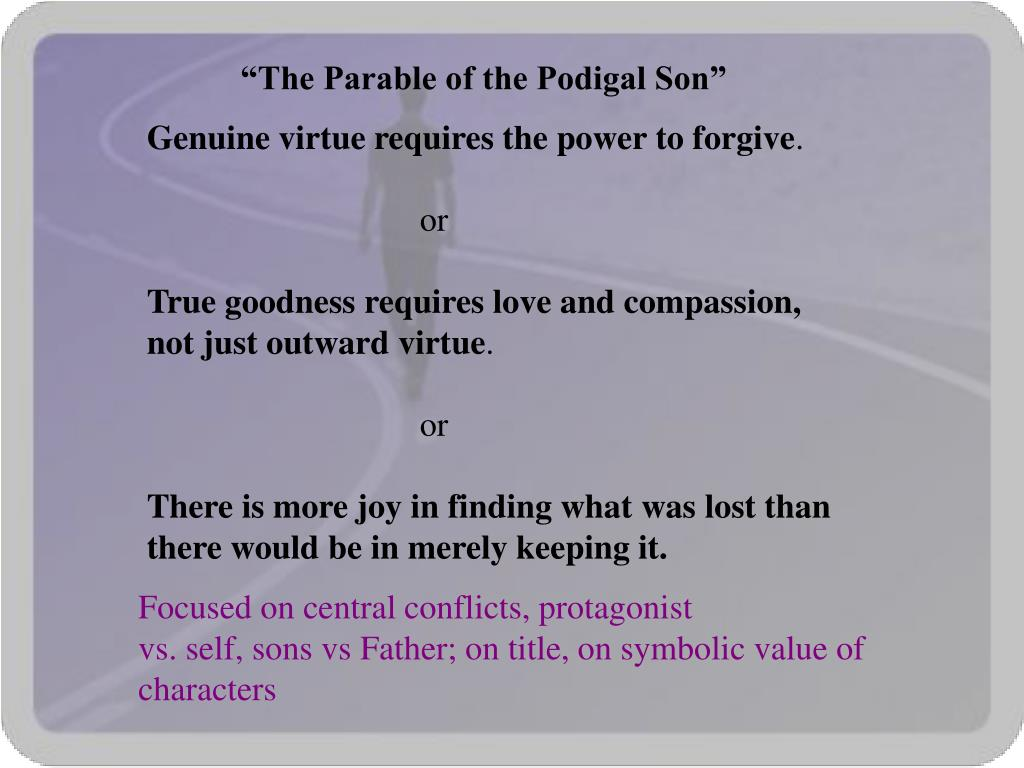 """The Parable of the Podigal Son"""