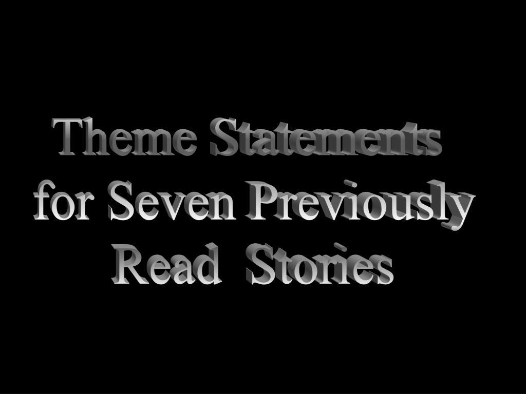 Theme Statements