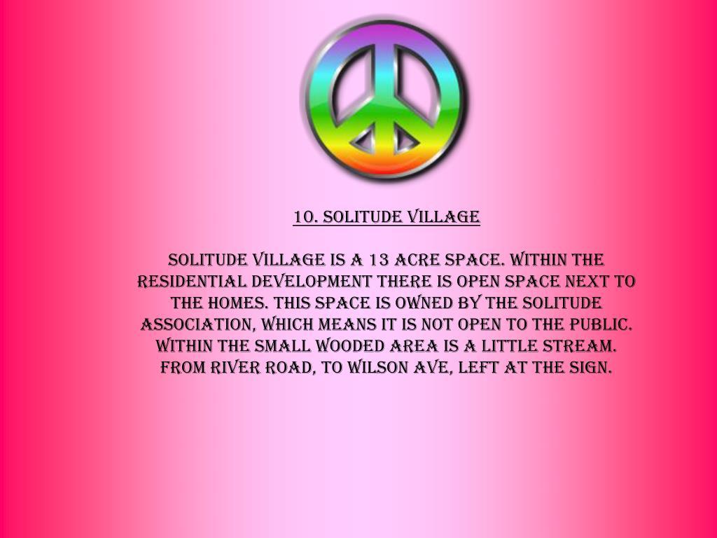 10. Solitude Village