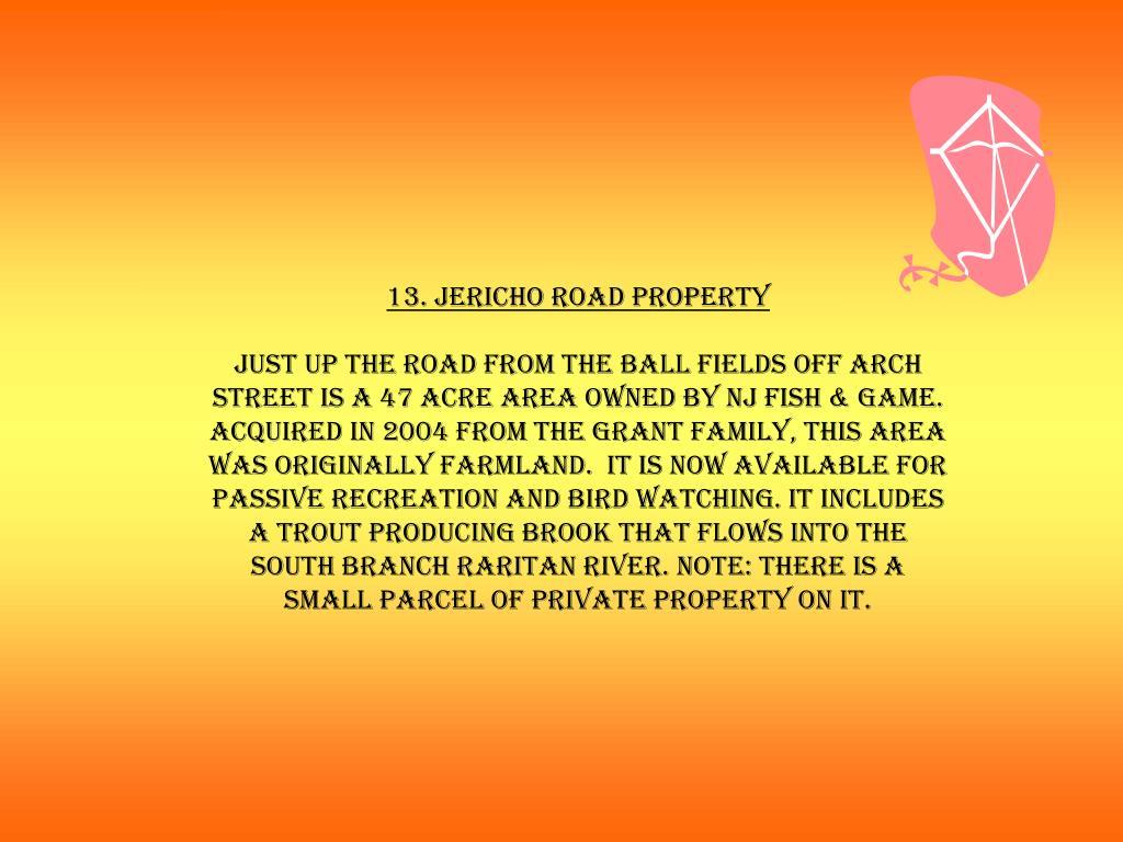 13. Jericho Road Property