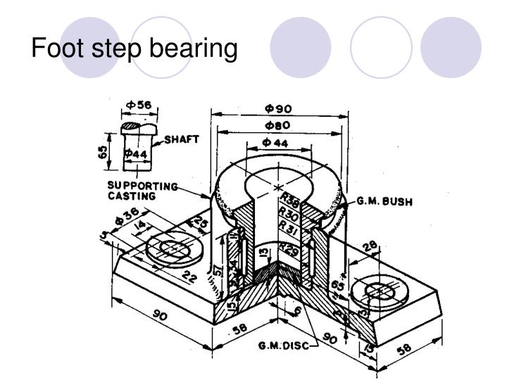Foot step bearing