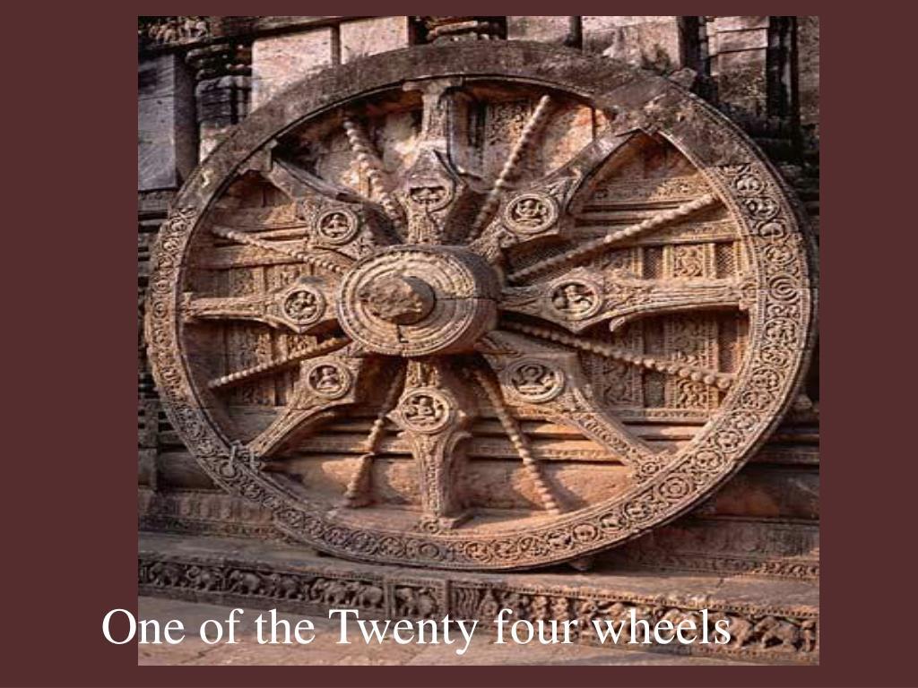 One of the Twenty four wheels