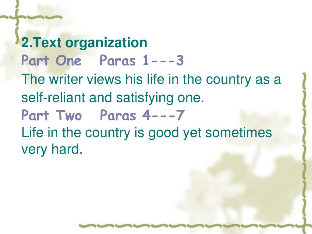 2.Text organization