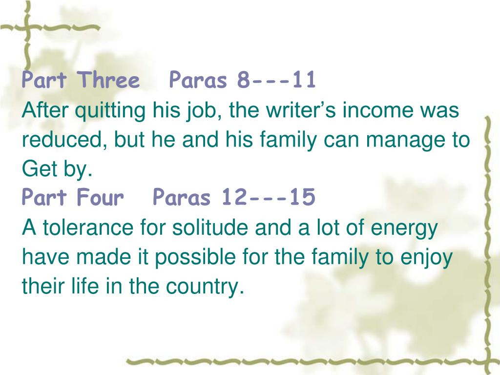 Part Three   Paras 8---11