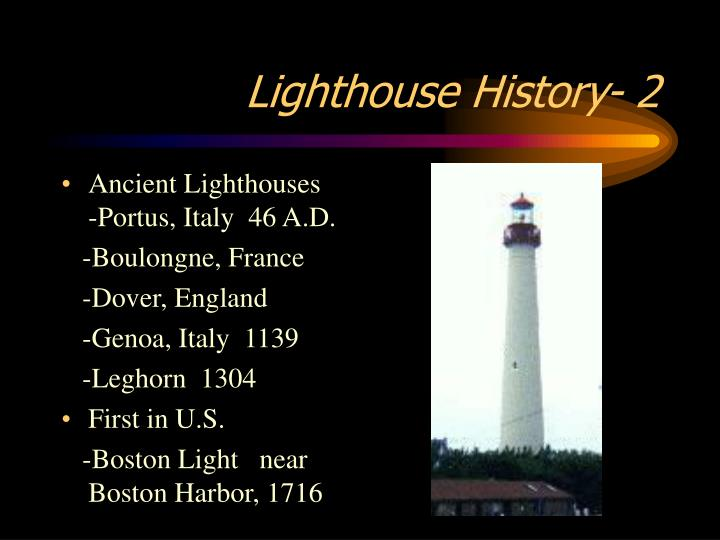 Lighthouse history 2