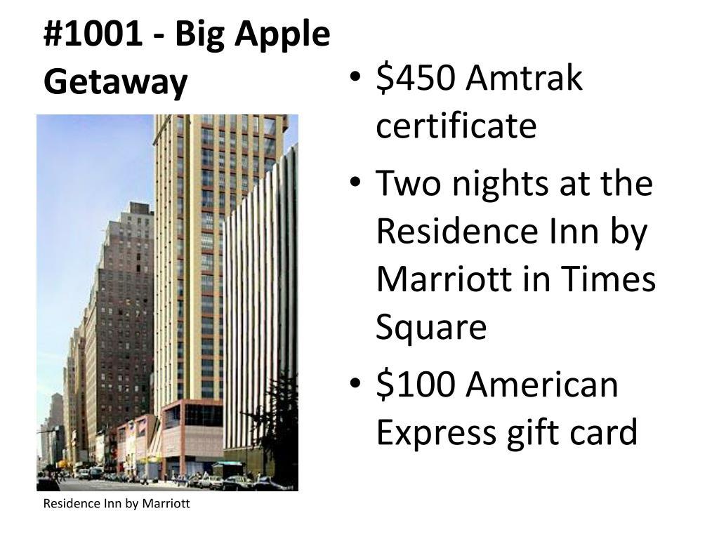 #1001 - Big Apple Getaway