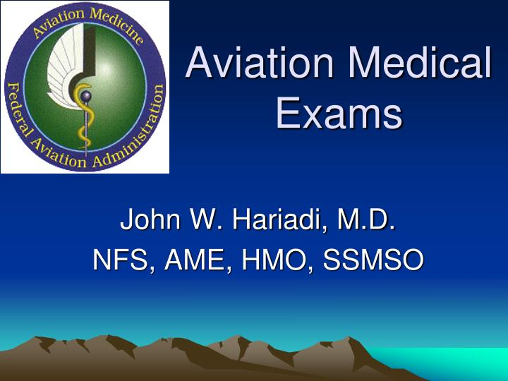 Aviation medical exams
