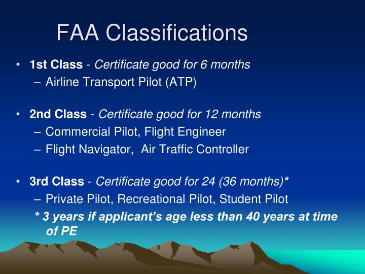 FAA Classifications