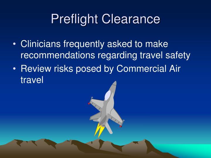 Preflight Clearance