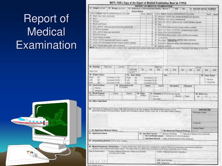 Report of Medical Examination