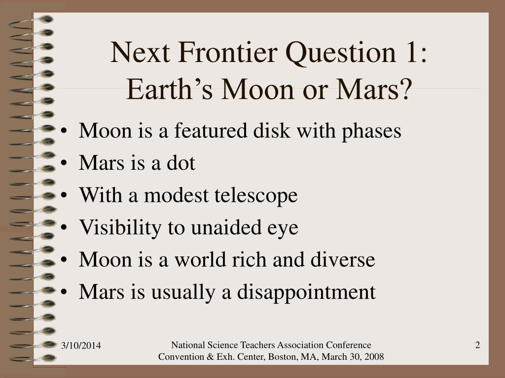 Next Frontier Question 1: