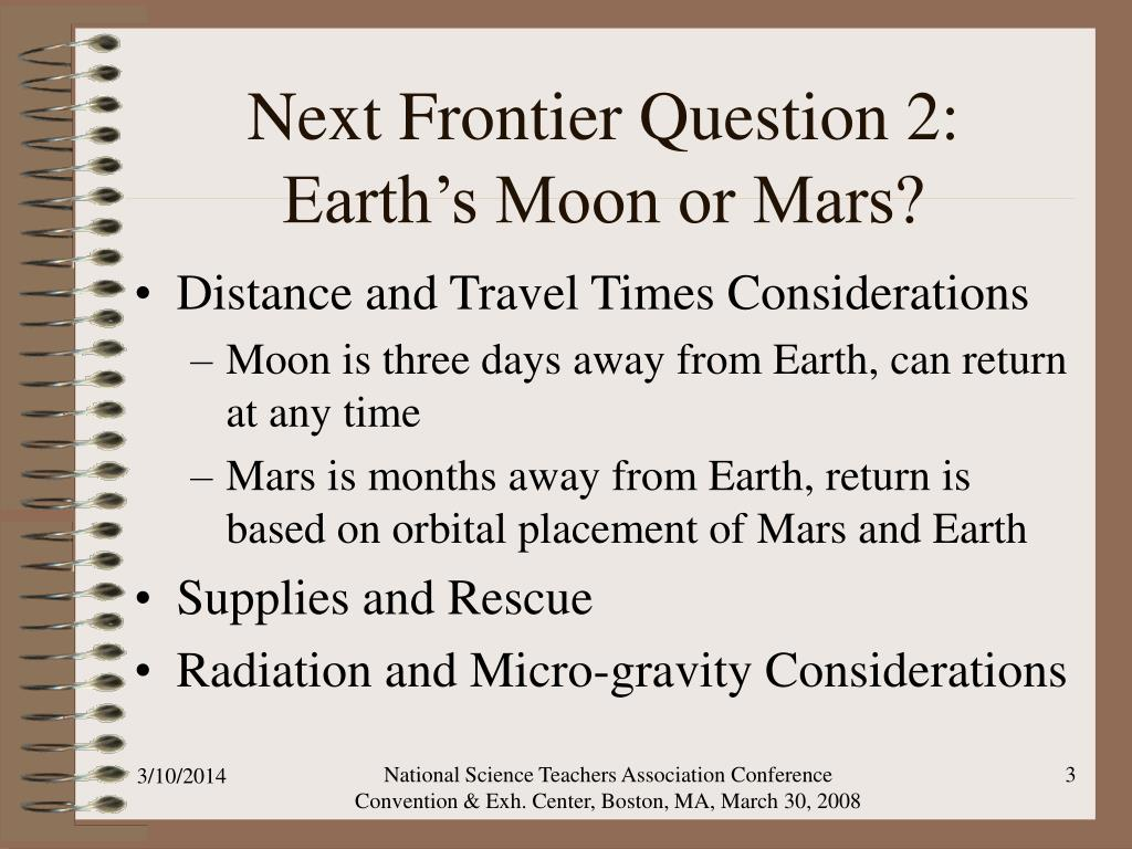 Next Frontier Question 2: