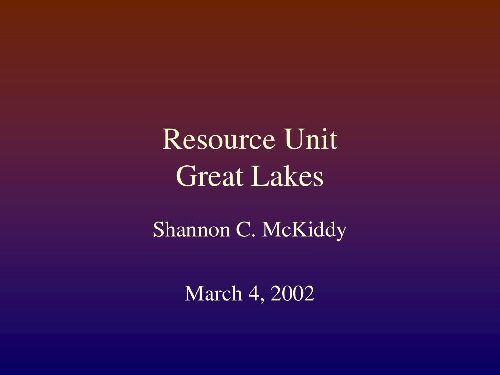 Resource Unit