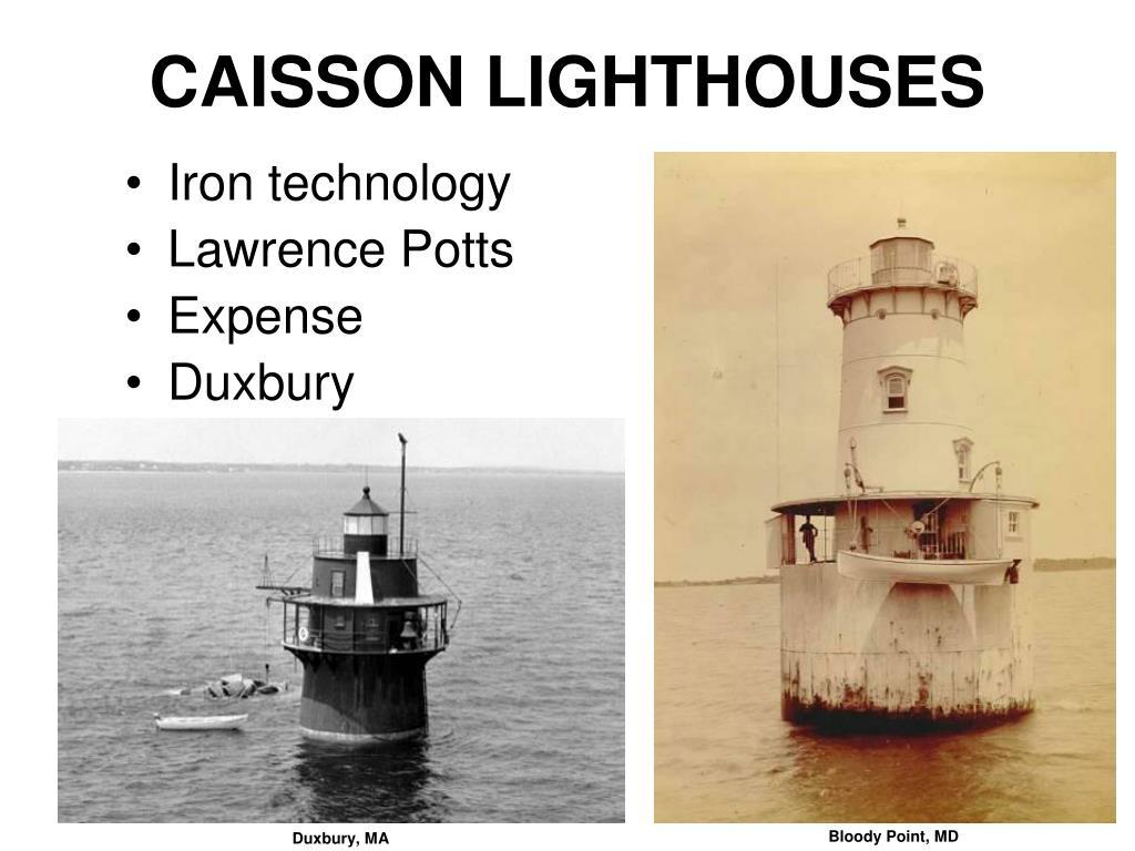 CAISSON LIGHTHOUSES