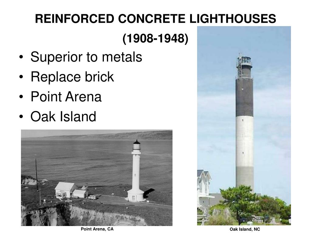 REINFORCED CONCRETE LIGHTHOUSES