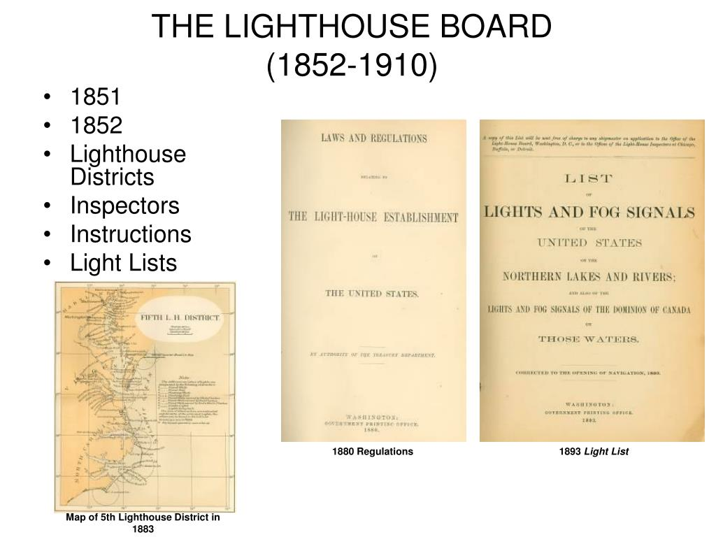 THE LIGHTHOUSE BOARD
