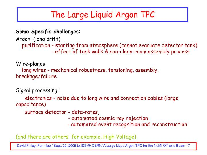 The Large Liquid Argon TPC