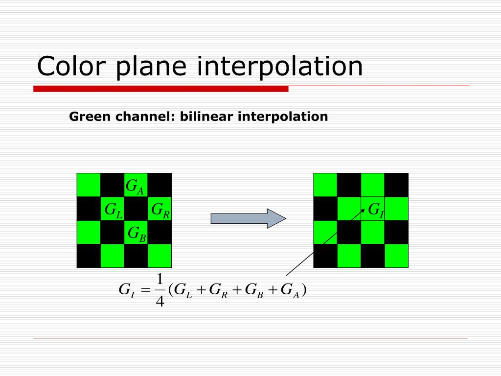 Color plane interpolation