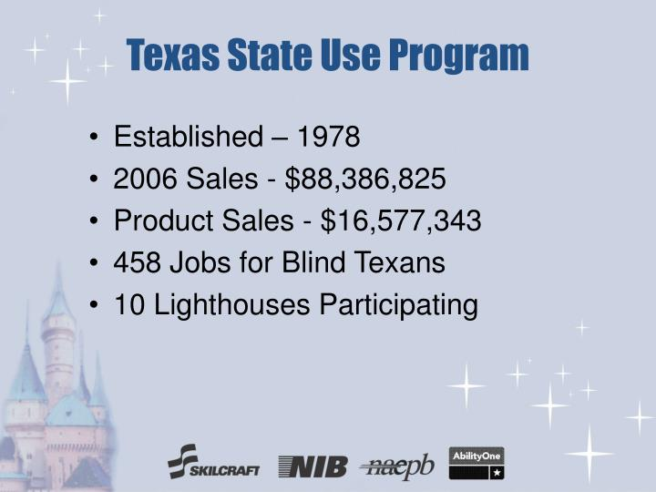 Texas state use program