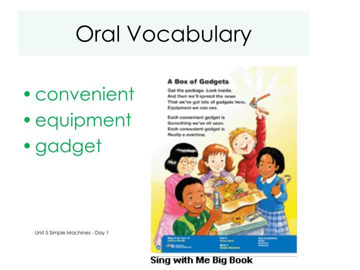Oral Vocabulary