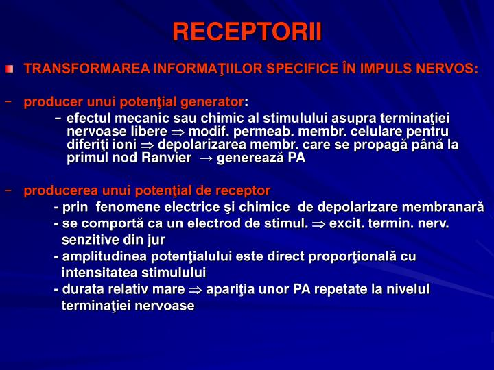 RECEPTORII