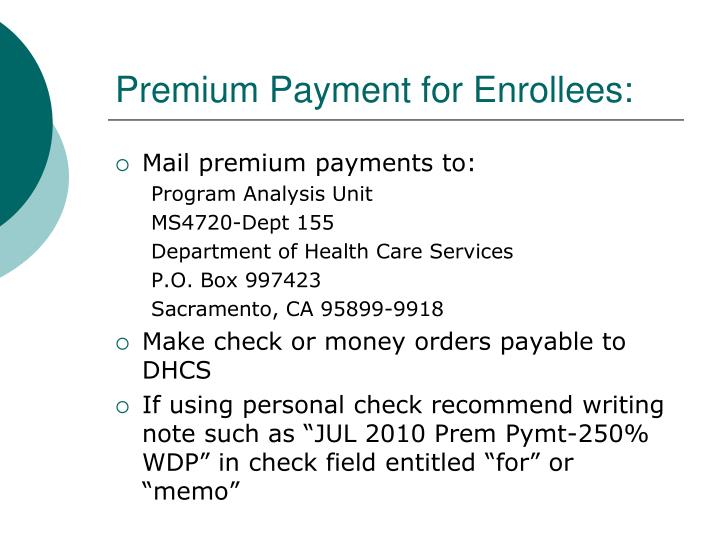Premium Payment for Enrollees: