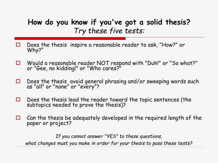 how do you prove a thesis statement