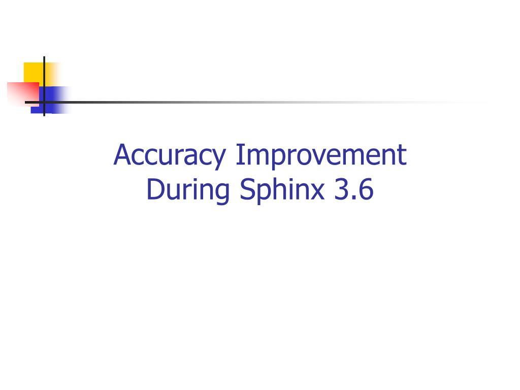 Accuracy Improvement
