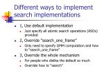 different ways to implement search implementations