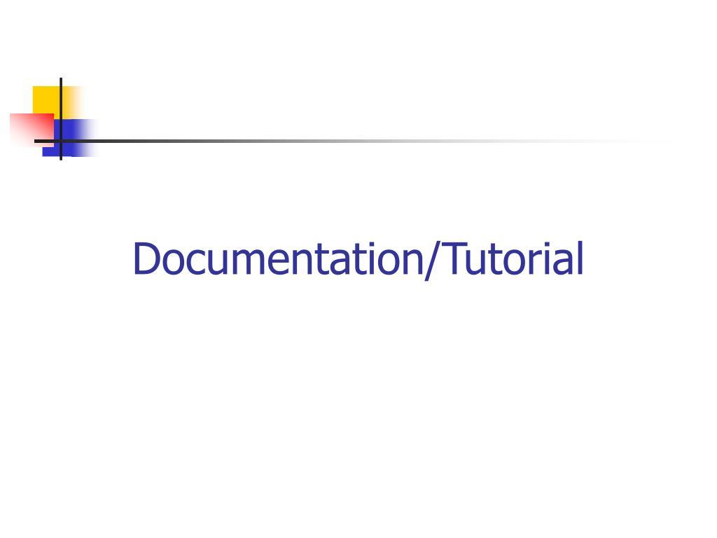 Documentation/Tutorial