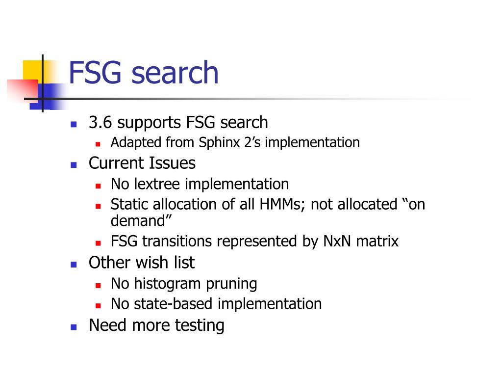 FSG search