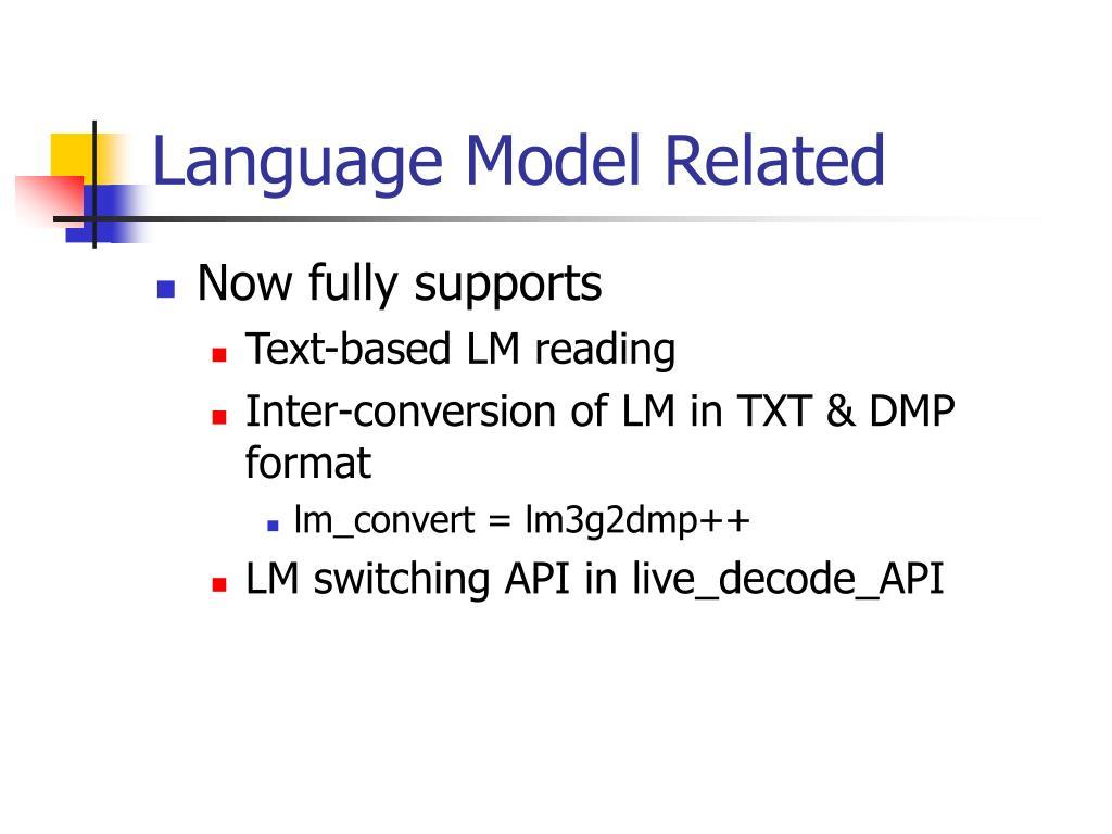 Language Model Related