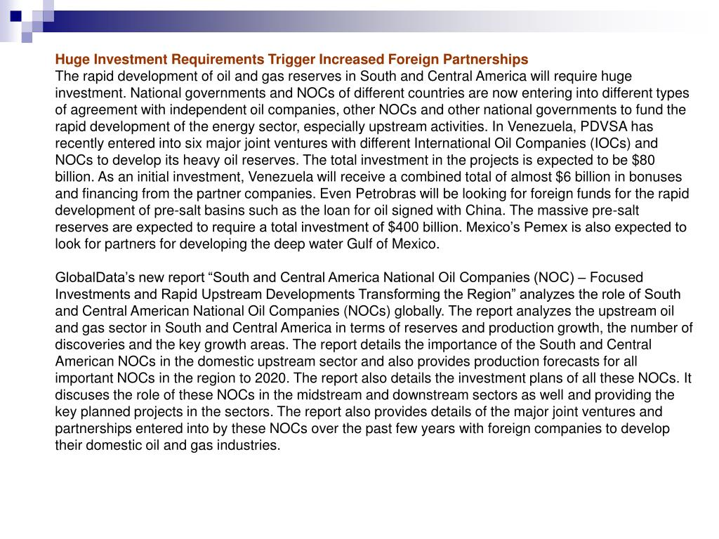 Huge Investment Requirements Trigger Increased Foreign Partnerships