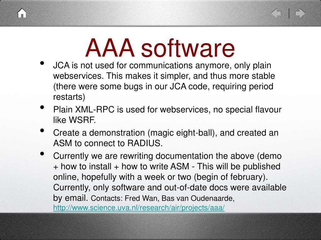 AAA software