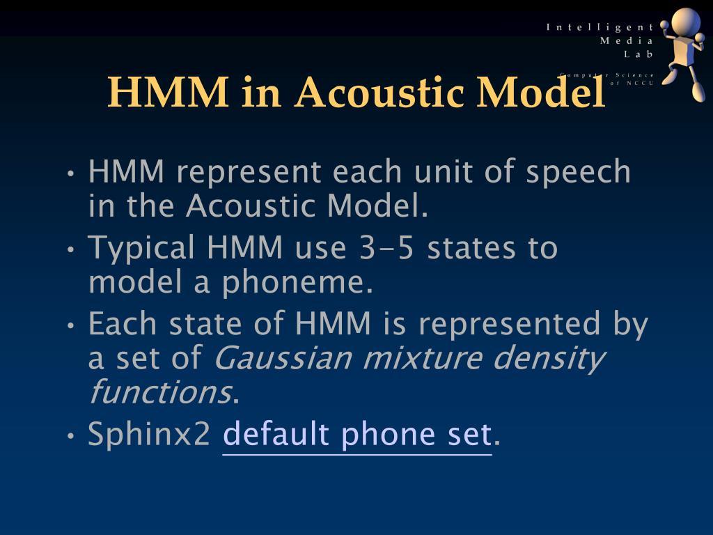 HMM in Acoustic Model