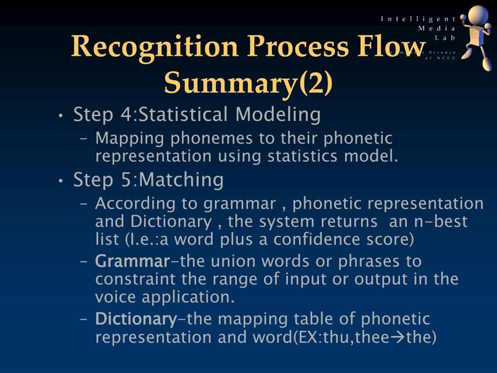 Recognition Process Flow Summary(2)