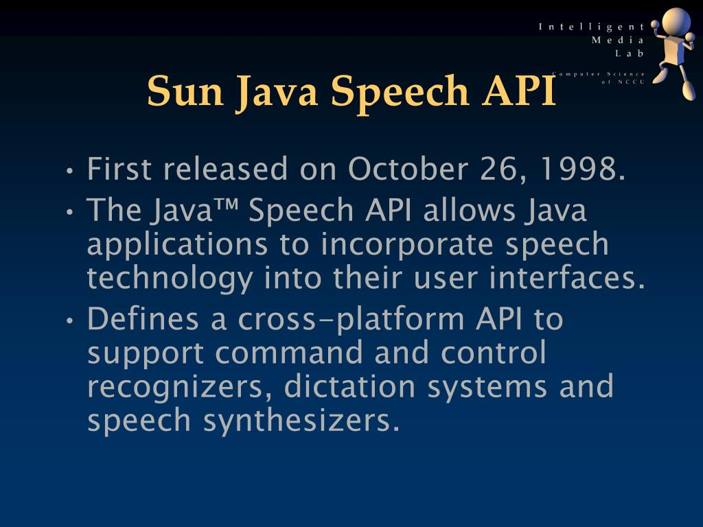 Sun Java Speech API
