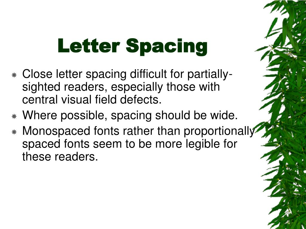 Letter Spacing