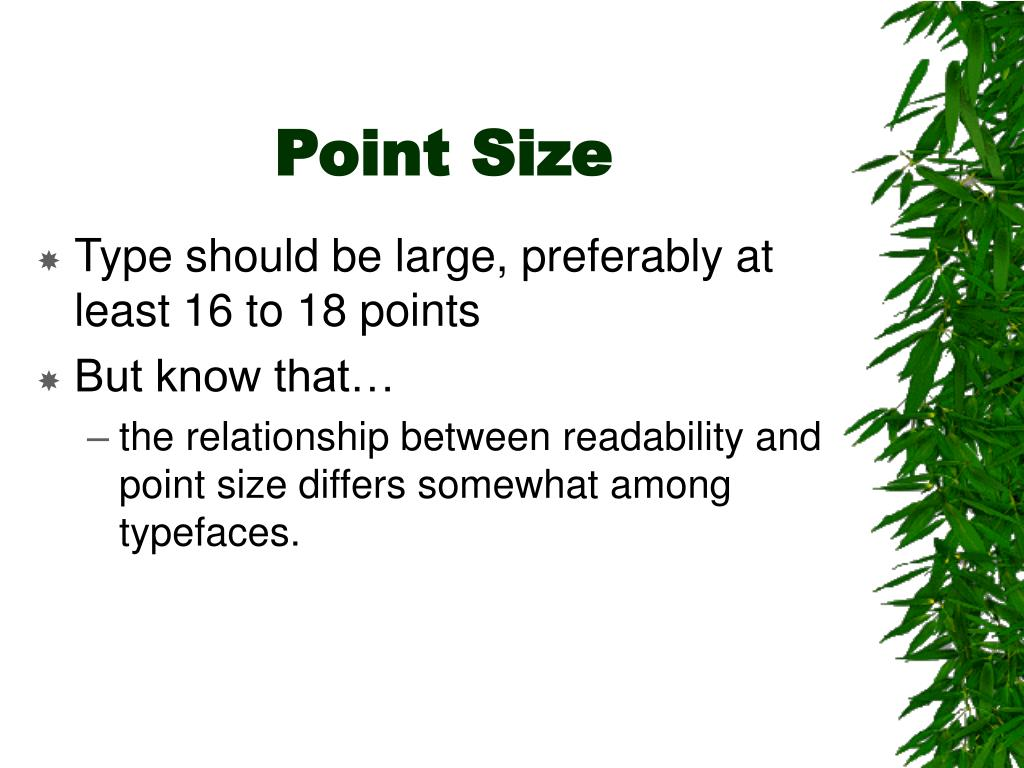 Point Size