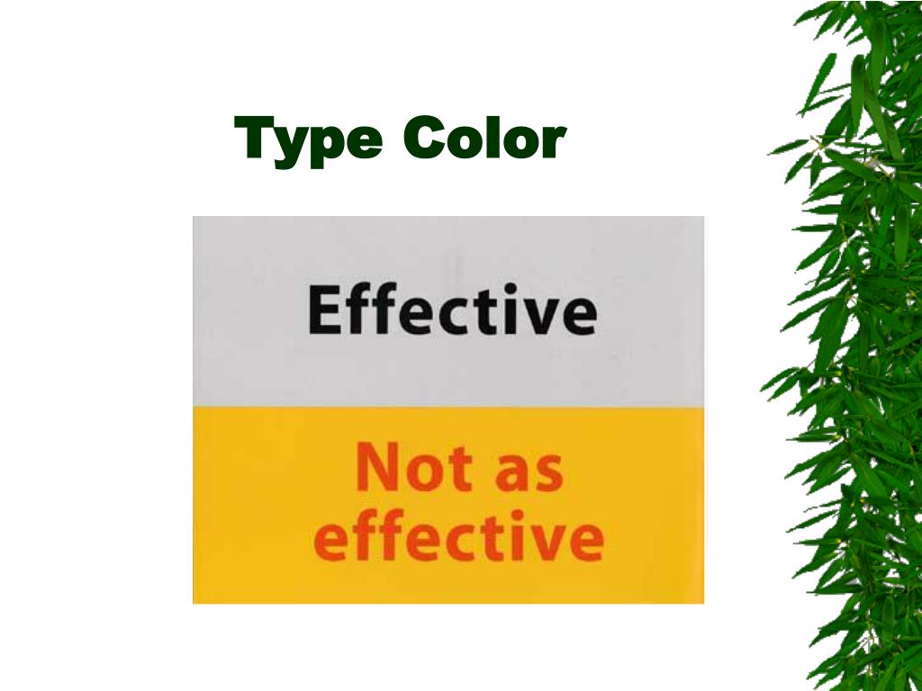 Type Color