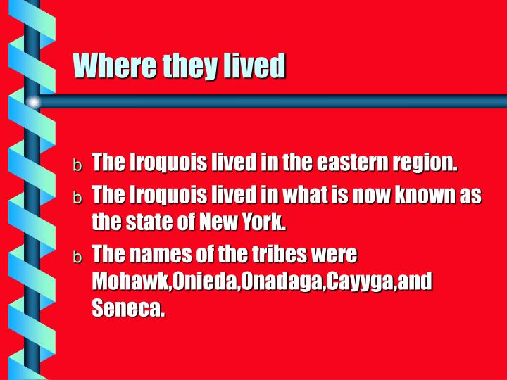 Where they lived