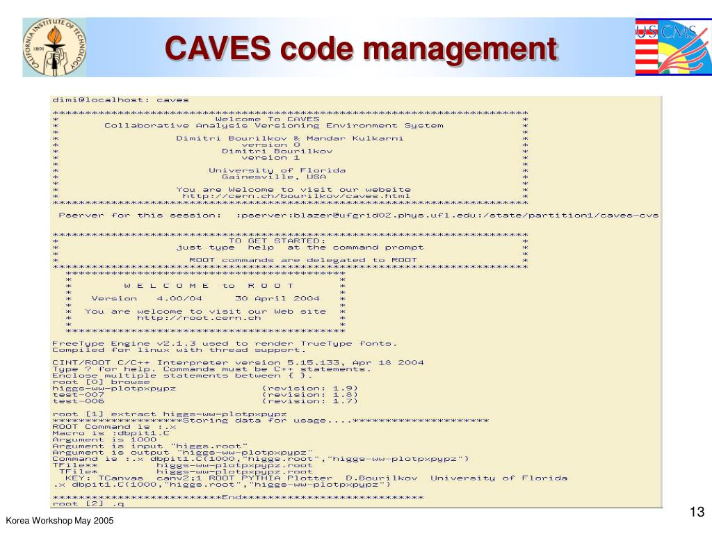 CAVES code management