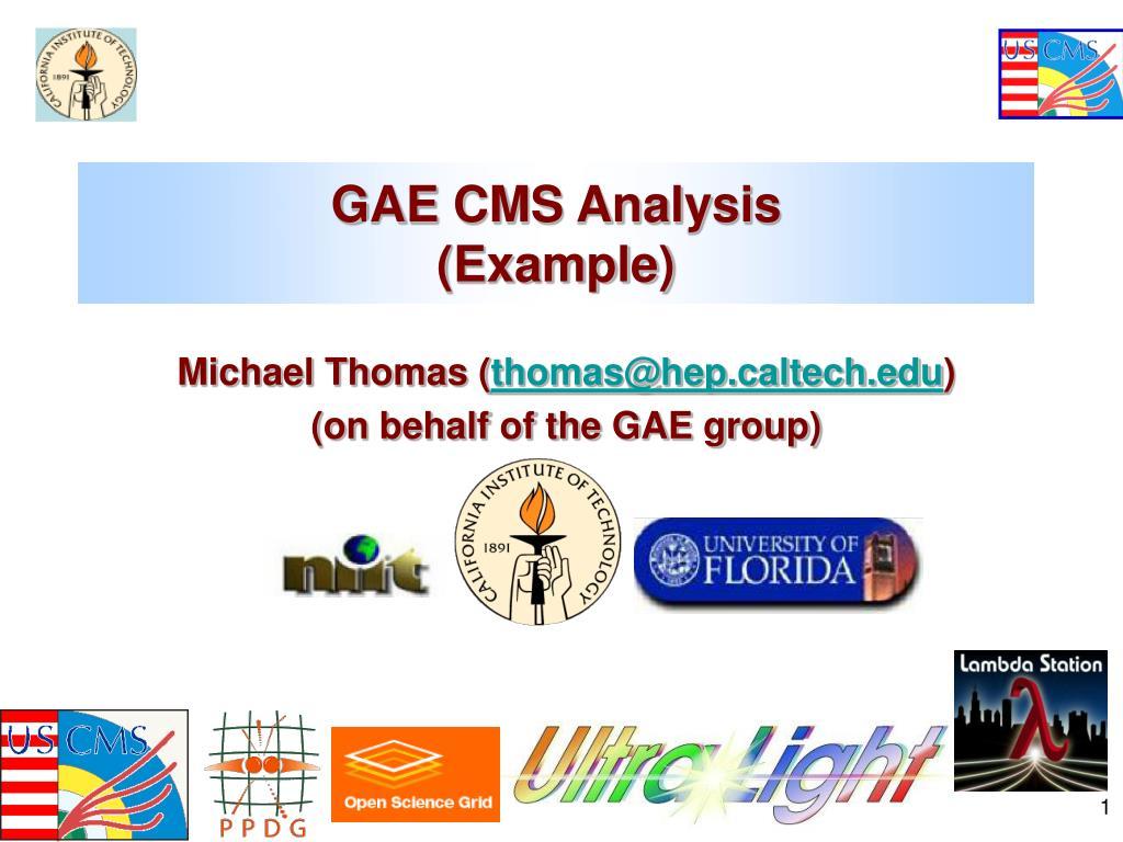 GAE CMS Analysis