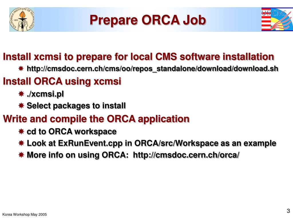 Prepare ORCA Job